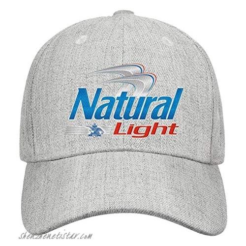 uter ewjrt Adjustable Natural-Light-Logo- Trucker Hat Dad New Cap