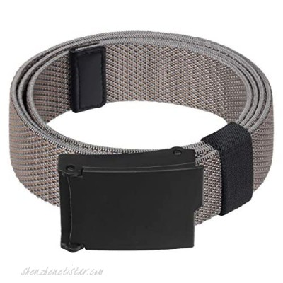 Samtree No Metal Stretch Belt for Men Full Adjustable Outdoor Casual Military Web Belt with Plastic Flip Top Buckle