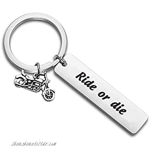 MYOSPARK Biker Ride Keychain Racer Adventure Gift Ride or Die Keychain Couples