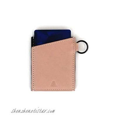 Andar Minimalist Slim Wallet Made of Premium Leather and Elastic with Keychain - The Leo